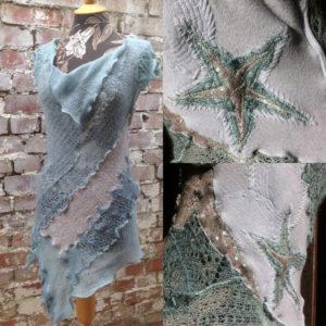 Wench Refashioned Fine Wool Tunic Dress - Starfish Mermaid