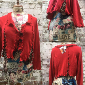 Wild Thing - Refashioned Cardigan by Wench