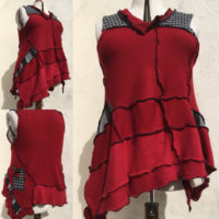 Wench Refashioned Cashmere & Lambswool Tunic Dress - Red Hot