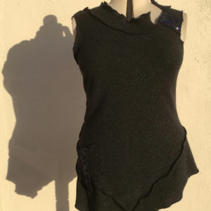 Charged Charcoal Wool Tunic Dress by Wench
