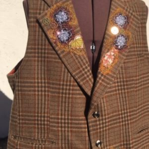 Mench Refashioned Wool Waisttcoat - In the Garden of Love