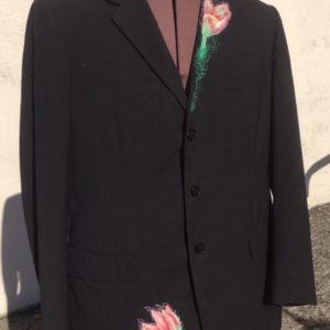 Mench Linen Suit Jacket - Tulips in Amsterdam