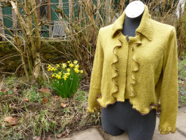 Spring has Sprung - Upcycled wool cardigan by Wench