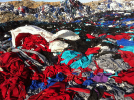 Textile landfill in Syria